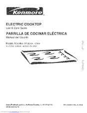 Kenmore 4121 - 36 in. Electric Cooktop Use And Care Manual