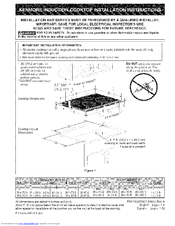 Kenmore 4292 - Elite 36 in. Induction Cooktop Installation Instructions Manual