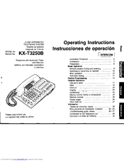 panasonic kxt3250 integrated telephone system manuals rh manualslib com telephone service manual bcm telephone system manual