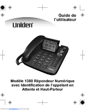 uniden 1380bk manuals rh manualslib com uniden 1360bk corded phone manual Uniden Phones Manual