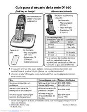 uniden d1660 2 manuals rh manualslib com Uniden 5.8Ghz Cordless Phone Battery Uniden D1660