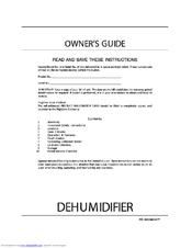 frigidaire fdb50r1 50 pint dehumidifier manuals