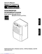 kenmore 54501 50 pint dehumidifier owner s manual pdf download rh manualslib com kenmore 35 pint dehumidifier owner's manual kenmore 54501 dehumidifier owner's manual