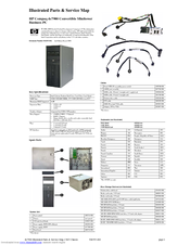 HP dc7900 - Convertible Minitower PC Illustrated Parts & Service Map