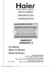 HAIER HWF05XC7-E - 5,200 BTU MECHANICAL AIR CONDITIONER USER ... on