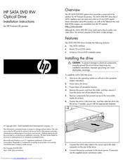 HP DL2x170h - ProLiant - G6 Installation Instructions