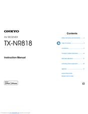 onkyo tx nr818 manuals rh manualslib com onkyo tx-nr818 specs onkyo tx-nr818 service manual