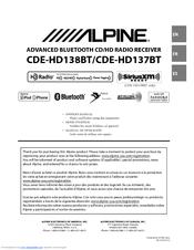 alpine cde hd137bt manuals alpine cde hd138bt manual Alpine CDE Aux