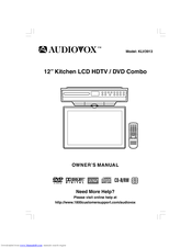audiovox klv3913 12 720p lcd tv dvd combo manuals rh manualslib com Audiovox TV LCD DVD 19 Audiovox Brand