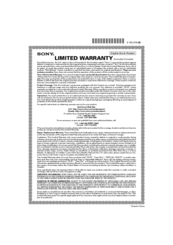 Sony prs t1 manuals sony prs t1 limited warranty publicscrutiny Images