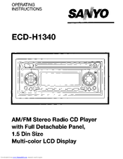 Sanyo H1340 - ECD Radio / CD Player Operating Instructions Manual