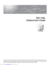 ricoh fax 1190l manuals rh manualslib com Ricoh Printer Stand Ricoh Printer Stand