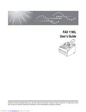 ricoh fax 1190l manuals rh manualslib com Savin 1190L Fax Savin 1190L