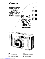 Canon Sure Shot 130u Caption Instructions Manual