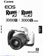 canon eos rebel k2 manuals rh manualslib com Canon EOS Rebel K2 Manual Canon EOS Rebel T4i Review