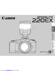 Canon 220EX - Speedlite - Hot-shoe clip-on Flash Instruction Manual
