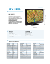 Dynex DX‐32L200A12 Specifications