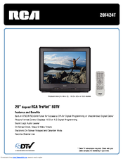 RCA 20F424T Specifications