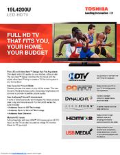 toshiba 19l4200u manuals rh manualslib com RCA User Manual Toshiba TV Manual