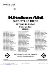 mixer parts list 10 pages parts list brand kitchenaid category mixer