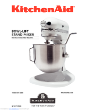 kitchenaid k4sswh 4 5 qt bowl lift stand mixer manuals rh manualslib com owners manual kitchenaid dishwasher owners manual kitchenaid ktrd18kawh10