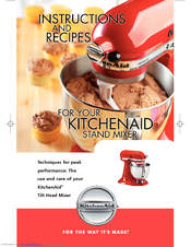 KitchenAid KSM75WH - Classic Plus 4.5-qt. Stand Mixer Use & Care Manual