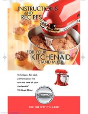 kitchenaid ksm150psbu artisan series 325w mixer manuals