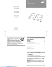 nintendo wii balance board manuals rh manualslib com Ridiculous Wii Instruction Manual Japanese Wii U Instruction Manual