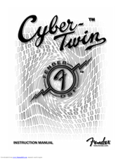 Fender cyber twin owners manual pdf