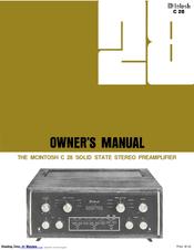 mcintosh c28 owner s manual pdf download rh manualslib com McIntosh MR78 mcintosh c28 service manual pdf