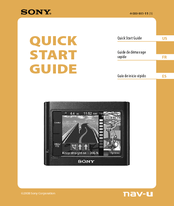 Sony NV-U44 - Automotive GPS Receiver Quick Start Manual