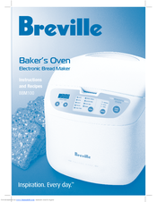 Bread maker instruction manual breville machine bbm100 – experthealth.