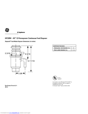 ge disposall gfc325v manuals rh manualslib com Garbage Disposal Drain Connection General Electric Garbage Disposal
