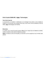 Haier A70 User Manual