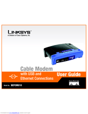 linksys befcmu10 cable modem with usb user manual pdf download rh manualslib com linksys cable modem cm100 manual linksys cable modem befcmu10 manual