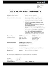 Garmin nuvi 750 Declaration Of Conformity