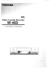 toshiba w 403 manuals rh manualslib com