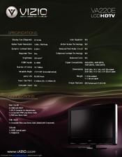 vizio va220e manuals rh manualslib com Vizio TV Service Manuals Vizio TV Service Manuals