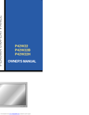 Zenith P42W22B Owner's Manual
