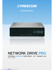 Freecom technologies network drive xs user manual | 40 pages.