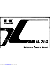 KAWASAKI 2001 kx250 Owner's Manual