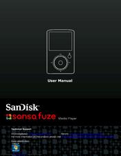 sandisk sdmx14r 4gb sansa fuze video mp3 player manuals rh manualslib com Sansa View Accessories Sansa Media Converter