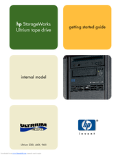HP 330834-B21 - StorageWorks Ultrium 460 Tape Library Drive Module Getting Started Manual
