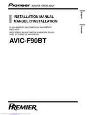 pioneer premier avic f90bt installation manual pdf download