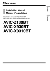 pioneer avic z130bt manuals