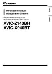 Pioneer AVIC-X940BT Installation Manual