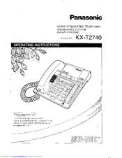 panasonic kx t2740 easa phone integrated telephone mini cassette rh manualslib com telephone system manuals telephone system manuals
