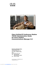 Cisco 7937G - Unified IP Conference Station VoIP Phone Administration Manual