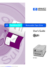 HP C5726A - SureStore DLT 80E Tape Drive User Manual