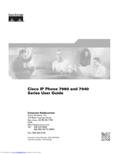 Cisco 7960G - IP Phone VoIP User Manual